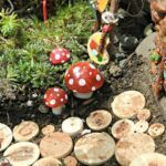 Fairy gardens ornaments buttons