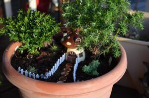 Fairy Gardens are Perfect for Small Garden Landscaping planter setup