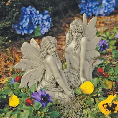 Enchanted Garden FairiesSitting Fairy Garden Statues ❀ Fairy Circle Garden