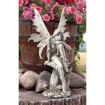 Fairy of Hopes and DreamsSitting Fairy Garden Statues ❀ Fairy Circle Garden