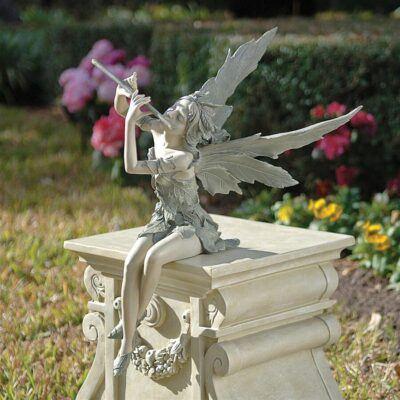 Fairy of the West Wind SittingSitting Fairy Garden Statues ❀ Fairy Circle Garden