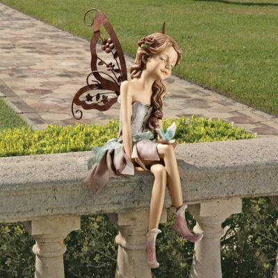Fannie the Fairy SittingSitting Fairy Garden Statues ❀ Fairy Circle Garden