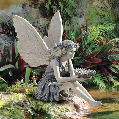 Sunflower fairySitting Fairy Garden Statues ❀ Fairy Circle Garden