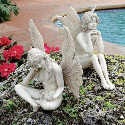 The Secret Garden FairiesSitting Fairy Garden Statues ❀ Fairy Circle Garden
