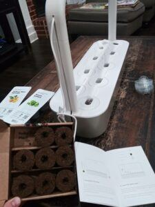 Adding the seed pods4 New Click and Grow Setup